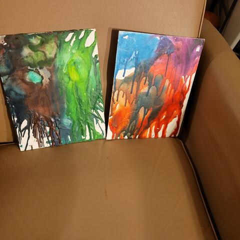 JESPY Shop Melted Crayon Paintings